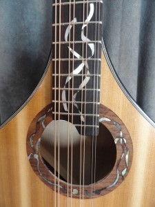 Kelp inlay on rosette and fingerboard