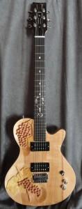 Wine-themed guitar