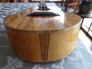 Maple sides and mahogany top